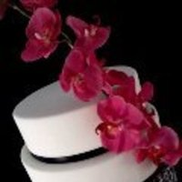 Cakes, white, pink, black, cake, Damask