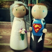 Reception, Flowers & Decor, Cakes, cake, Bride, Groom, Topper, For, Surprise, Superhero