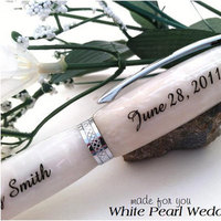 Ceremony, Reception, Flowers & Decor, Favors & Gifts, white, silver, gold, Favors, Wedding, Book, Guest, Pen