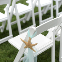 Ceremony, Flowers & Decor, Decor, Beach, Tables & Seating, Beach Wedding Flowers & Decor, Starfish, Chairs, Aisle