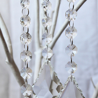 silver, Wedding, Tree, Hanging, Crystal, Inspiration board, Garland, Crystals, Chain, Prisms