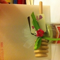 Stationery, pink, green, brown, Invitations