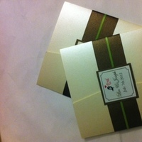 DIY, Stationery, pink, green, brown, Invitations