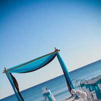 Ceremony, Flowers & Decor, blue, brown, Beach, Beach Wedding Flowers & Decor, Vow renewal, Beach arch
