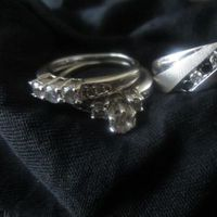Jewelry, white, gold, Rings, Wedding, Band, And, His, Hers