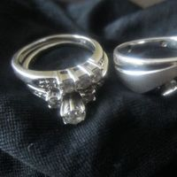 Jewelry, white, black, gold, Rings, Wedding, Band, And, His, Hers