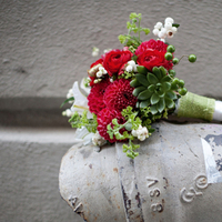 Flowers & Decor, red, green, Bride Bouquets, Flowers, Bouquet, Dahlias, Succulent, Clara dave