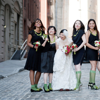Jewelry, Bridesmaids, Bridesmaids Dresses, Fashion, red, green, black, Necklaces, Socks, Clara dave