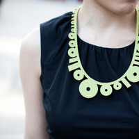 green, black, Bridesmaid, Necklace, Clara dave
