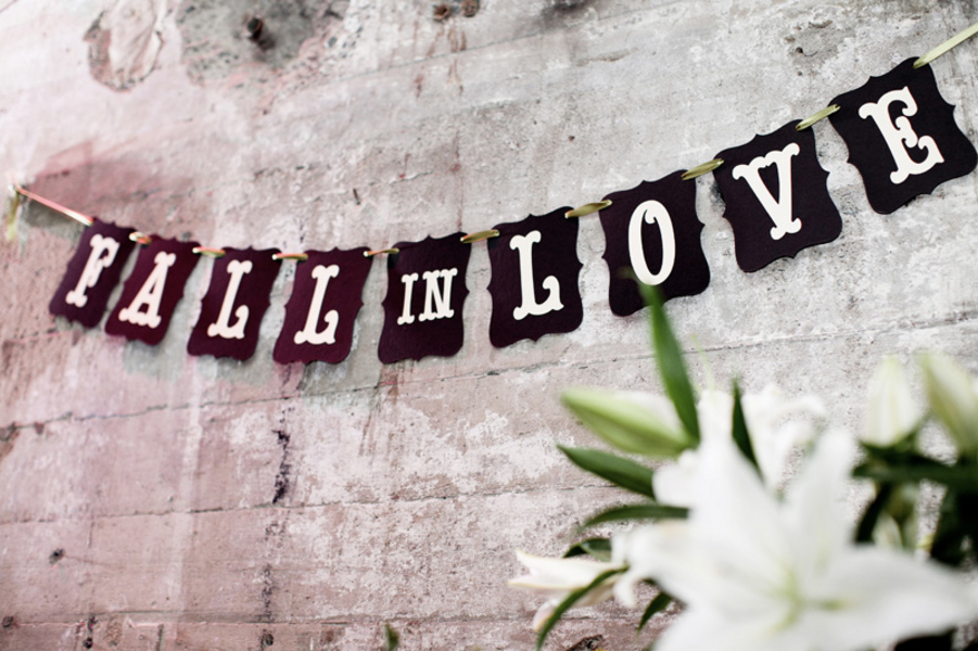 white, brown, Banner, Fall in love, Décor, Clara dave