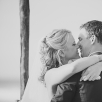 Ceremony, Flowers & Decor, Beach, Beach Wedding Flowers & Decor, Groom, Kiss, Kristin broen