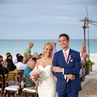 Ceremony, Flowers & Decor, Beach, Beach Wedding Flowers & Decor, Couple, Aisle, Walk, Kristin broen