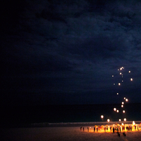 Destinations, pink, Beach, Destination, Lanterns, Navy, Sky, Kristin broen