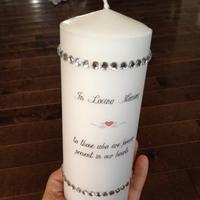 DIY, silver, Candle, Memorial