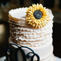 Cakes, cake, Monogrammed Wedding Cakes, Monogram, Ruffles, Sunflower, Robyn, Robyn ben