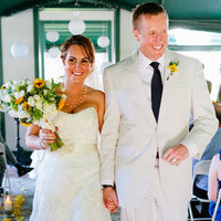 Ceremony, Flowers & Decor, yellow, Bride, Groom, Walk, Robyn, Robyn ben