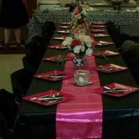 Reception, Flowers & Decor, pink, black, silver