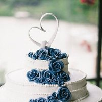 Cakes, white, blue, cake, Chantilly