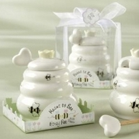 Favors & Gifts, white, yellow, Favors, Honey, Pot