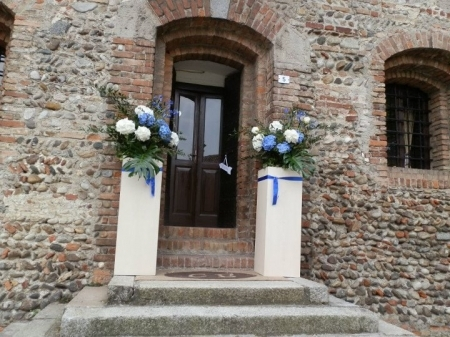 Flowers & Decor, white, blue, Flowers
