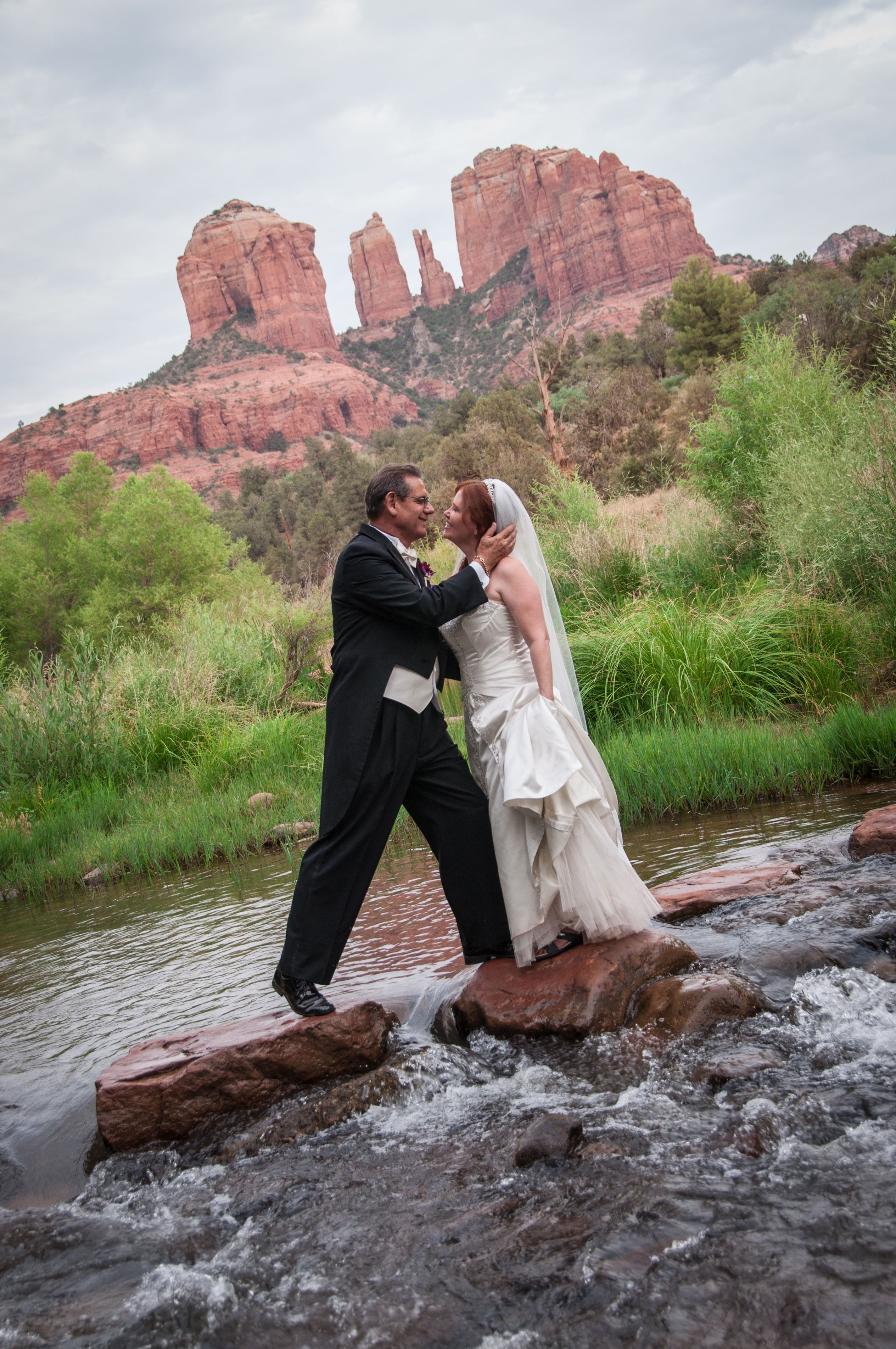 Ceremony, Flowers & Decor, Destinations, white, orange, red, purple, black, silver, Wedding, Destination, Rock, At, Sedona, Az, Crossing
