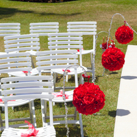 Ceremony, Flowers & Decor, white, red