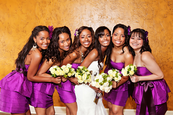 Bridesmaids, Bridesmaids Dresses, Fashion, purple, Bouquets, Crystal wicksell