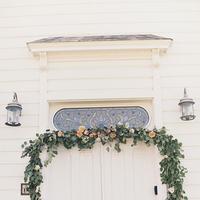 white, green, Church, Floral, Garland, Kiki dan