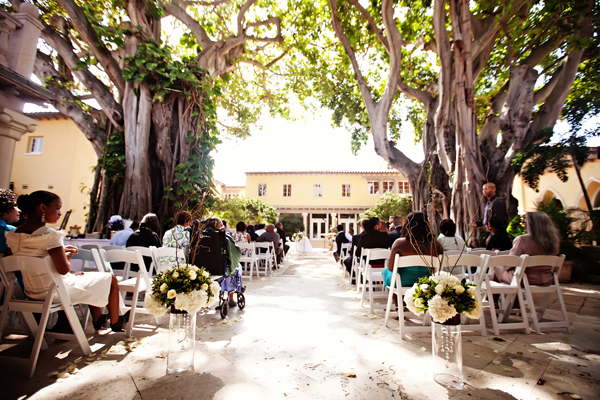 Ceremony, Flowers & Decor, Aisle, Outside, Trees, Crystal wicksell