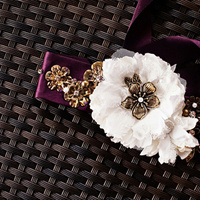 DIY, Flowers & Decor, white, purple, Flower, Bridal, Detail, Belt, Crystal wicksell