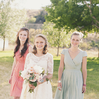 Bridesmaids, Bridesmaids Dresses, Vintage Wedding Dresses, Fashion, white, pink, blue, green, Vintage, Bride, Bouquet, Teal, Pastel, Kiki dan