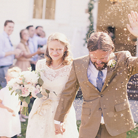 Ceremony, Flowers & Decor, white, green, brown, Ceremony Flowers, Bride Bouquets, Bride, Flowers, Groom, Couple, Petals, Departure, Kiki dan