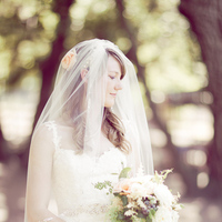 Beauty, Veils, Fashion, white, green, Roses, Bouquet, Veil, Wedding, Hair, Danielle cody