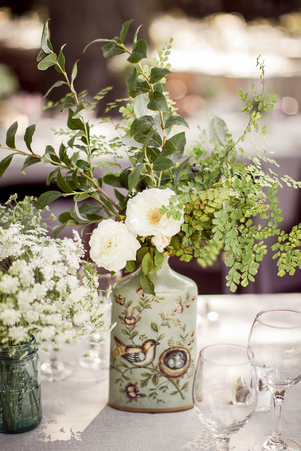 Reception, Flowers & Decor, white, Centerpieces, Flowers, Wedding, Birds, Danielle cody
