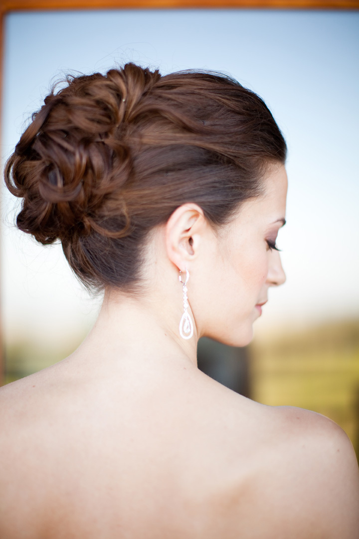Beauty, Jewelry, Earrings, Bride, Hair, Up-do, Ashley mark