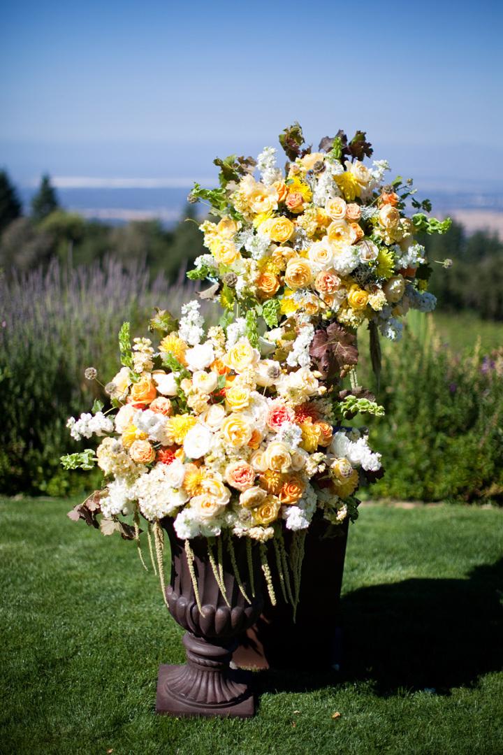 Ceremony, Flowers & Decor, white, yellow, Ceremony Flowers, Flowers, Roses, Ashley mark