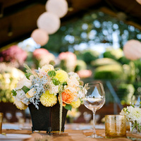 Flowers & Decor, Paper, white, orange, blue, Centerpieces, Flowers, Centerpiece, Table, Peach, Lanters, Ashley mark