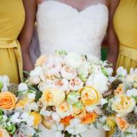 Flowers & Decor, Bridesmaids, Bridesmaids Dresses, Fashion, white, yellow, orange, pink, green, Garden, Roses, Bouquets, Ashley mark
