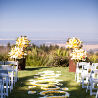 Ceremony, Flowers & Decor, white, yellow, Petals, Aisle, Ashley mark