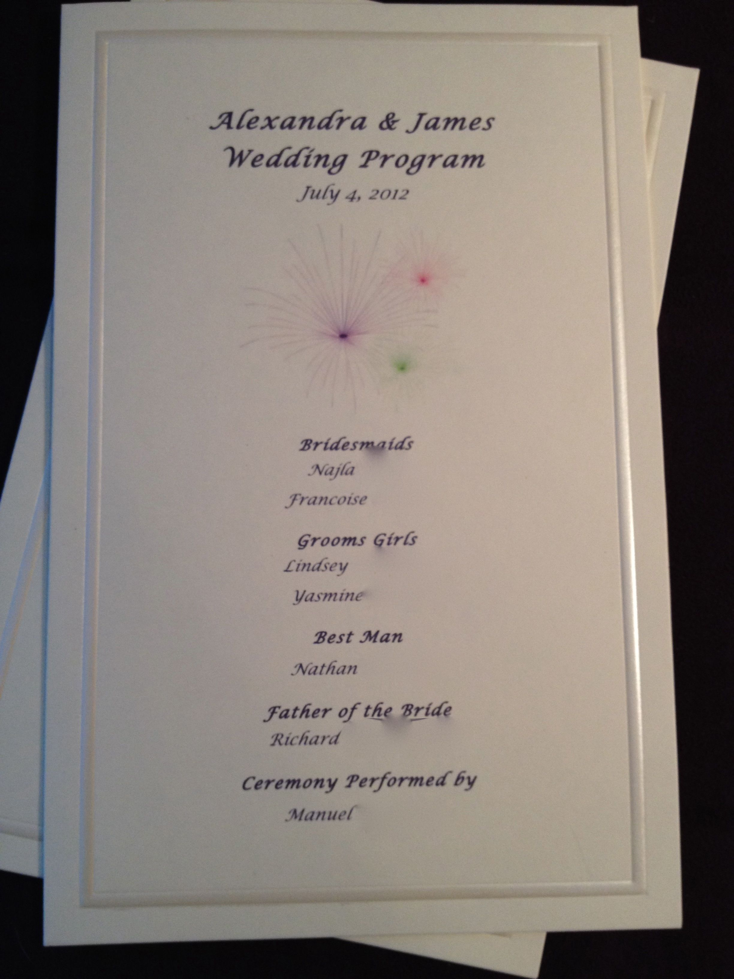 Ceremony, Flowers & Decor, Stationery, purple, Ceremony Programs, Programs, Wedding