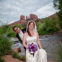 Ceremony, Flowers & Decor, white, orange, red, purple, black, silver, Wedding, Sedona