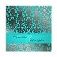 Stationery, blue, silver, Invitations