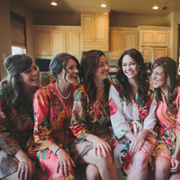 Bridesmaids, Bridesmaids Dresses, Fashion, orange, pink, Bride, Robes, Rachel craig