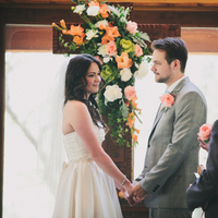 Ceremony, Flowers & Decor, green, Florals, Coral, Rachel craig