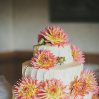 Flowers & Decor, Cakes, white, yellow, pink, cake, Flowers, Wedding, Rachel craig