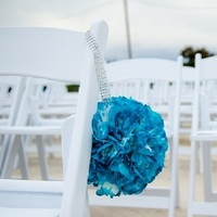 Ceremony, Flowers & Decor, silver, Ceremony Flowers, Flowers, Teal, Pomander, Bling