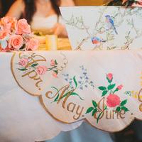 Reception, Flowers & Decor, Decor, pink, Roses, Table, Birds, Rachel craig