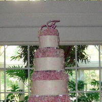 Cakes, pink, silver, cake