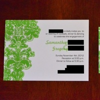 Stationery, green, black, Invitations