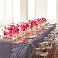 Flowers & Decor, pink, gray, Tables & Seating, And, Tables